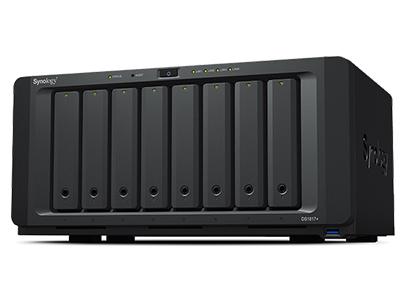 DiskStation DS1817+ CPU 四核 2.4GHz 内存容量 2GB/8GB DDR3,高达 16GB(双通道) 高性能 1,179 MB/s 连续读取能力 可扩展性 通过两个 DX517 扩充设备可扩展到 18 个硬盘1