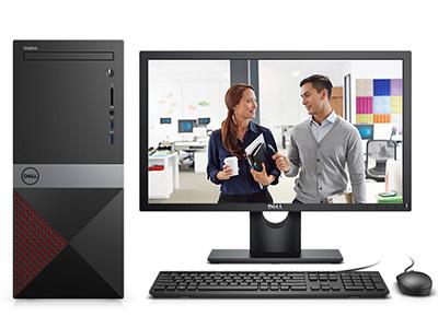 戴尔 V3670-R13N0R 台式机 i3-8100 4GB 1T+16G(傲腾内存) Windows 10
