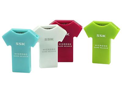 飚王SSK SCRS052 T恤 micro SD 读卡器
