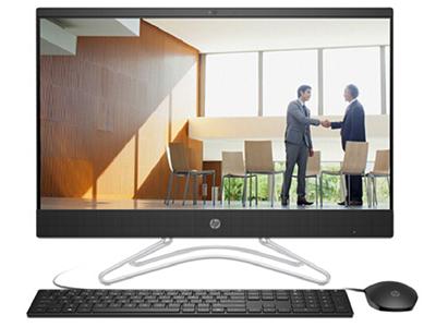 """惠普 24-F022bcn 一体机 J5005 4G 1TB 集显 无线键鼠 23.8"""" Win10 黑色窄边框"""