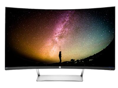 惠普 N270C  27英寸曲面显示器纤薄窄边HDMI DP高清PS4液晶屏幕