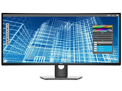 戴尔 P3418HW 34英寸21:9宽屏曲面屏液晶电脑显示器办公游戏显示屏