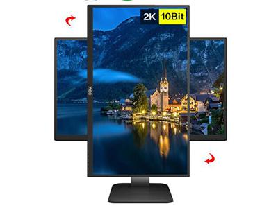 AOC Q27P1U  产品类型:2K显示器,LED显示器,广视角护眼显示器 产品定位:大众实用 屏幕尺寸:27英寸 面板类型:IPS 最佳分辨率:1920x1080(D-Sub) 2560x1440(HDMI,DP) 可视角度:178/178° 视频接口:D-Sub(VGA),HDMI×2,Displayport 底座功能:侧转:175°,倾斜:-5-23°,旋转:90°,升降:130mm