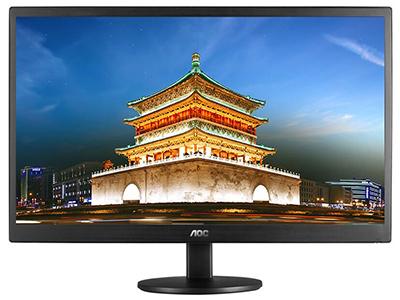 AOC E970SWN5  产品类型:LED显示器 产品定位:大众实用 屏幕尺寸:18.5英寸 面板类型:TN 最佳分辨率:1366x768 可视角度:90/65° 视频接口:D-Sub(VGA) 底座功能:倾斜:-3-10°