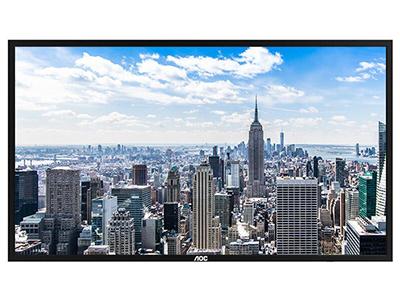 AOC 75U1 75英寸 4K超清 广视角 会议教育培训 大数据显示屏 商用电视广告机