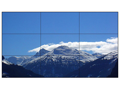 AOC 55D9U 55英寸支持4K显示方案 广视角 双边拼缝3.5mm 拼接屏