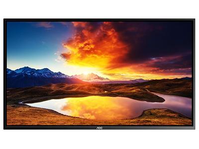 AOC 50F1 50英寸 壁挂广告机 IPS屏横屏显示 智能数字标牌 商用广告一体机
