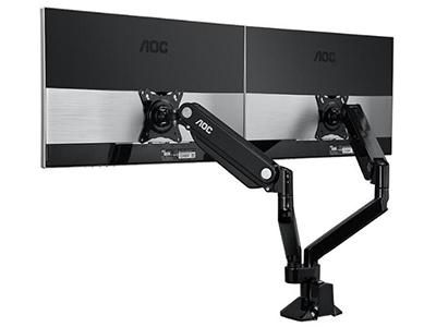 AOC DBX01黑色双臂显示器支架