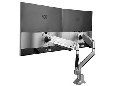 AOC DSX01银色双屏显示器支架