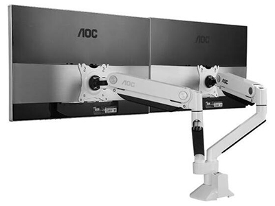 AOC DWX01白色双屏显示器支架