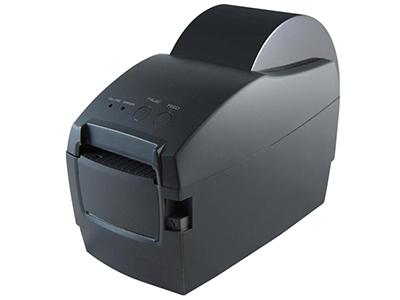 佳博 GP-2120T条码打印机  打印速度 3 ~ 5英寸/秒; 外观尺寸 220×110×160毫米(宽×深×高); 支持2M DRAM存储器,2英寸打印宽度; 标签纸自动定位,支持简体、繁体中文及韩文; 标签纸自动剥离/撕离; BMP、PCX、BAS文件下载存储; 通讯接口为USB+串口;