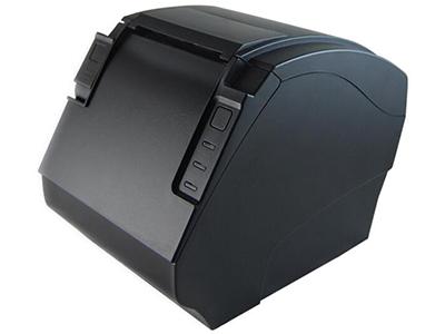佳博 GP-F80300II票据打印机  300毫米/秒高速打印; 外观尺寸 140×210×165毫米(宽×深×高); 支持二维条码打印功能(QRCODE); 前出纸、前翻盖、防水型、不卡刀; 标配GB18030简体中文汉字库; 支持打印机监控功能;