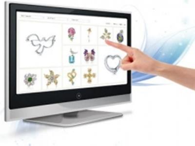 安视博  55寸高清触屏显示器