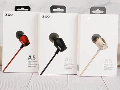 ZXQ A5 全金属重低音耳机 K歌全指向咪 金黑红三色可选 全金属前后腔侧入耳式仿生耳机 低音小钢炮,震撼音效
