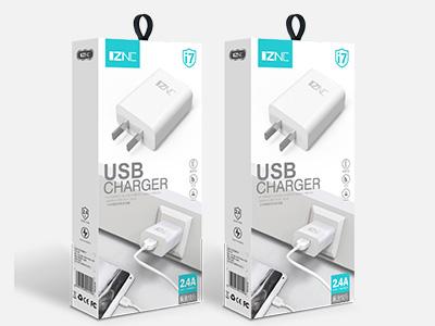 智能冲 i7充电器  2.4A 私模外观,足2.4A快速充电 充电头采用ABS环保材料,标准USB接口 防爆IC方案,老化测试,足2.4A电流