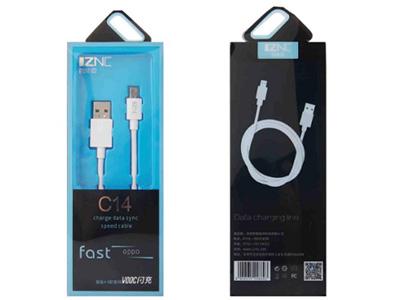 智能充 C14   V00C闪充数据线 采用OPPO原装芯片,完美兼容所有OPPO手机 过4A大电流,TPE柔软线材,媲美原装