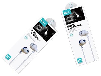 智能充 N1入耳式耳机 有麦克风,直针3.5mm 全兼容音乐耳机,人体工程学设计,兼容所有3.5接口设备  15MM超薄振膜