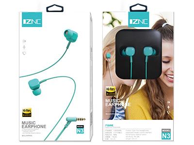 智能充 N3音乐立体耳机 有麦克风,弯针3.5mm 全兼容音乐耳机,人体工程学设计,兼容所有3.5接口设备  15MM超薄振膜