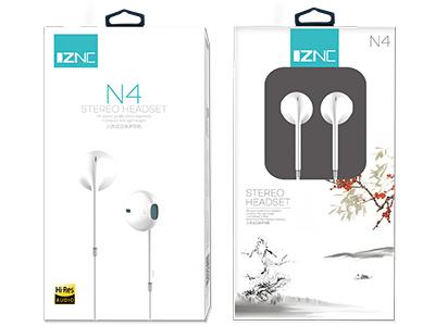 智能充 N4 平耳式音乐立体耳机  3处声孔,立体环绕音质 3.5MM插头设计,强大兼容性 半入耳式设计,舒适佩戴
