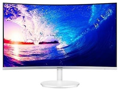 三星C27F581F  产品类型:LED显示器,广视角显示器,曲面护眼显示器 产品定位:电子竞技,设计制图 屏幕尺寸:27英寸 面板类型:VA 最佳分辨率:1920x1080 可视角度:178/178° 视频接口:D-Sub(VGA),HDMI,Displayport 底座功能:倾斜:-2-20°