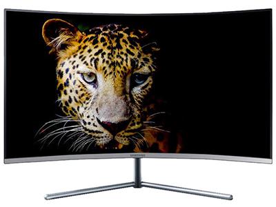 三星U32R590CWC  产品类型:4K显示器,LED显示器,广视角护眼曲面显示器 产品定位:商务办公 屏幕尺寸:31.5英寸 面板类型:VA 最佳分辨率:3840x2160 可视角度:178/178° 视频接口:HDMI,Displayport