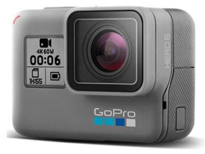 GoPro HERO6 Black黑色 4K户外水下潜水视频直播 摄像机 语音控制 防抖防水