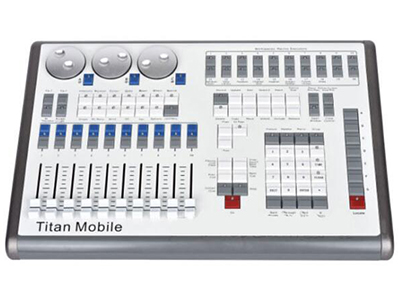 YG-TITAN Moblie  20个程序回放推杆 独立的直接访问工作空间,宏和执行程序  4个DMX输出口,最多64个DMX线路,通过Art-net或Sacn扩展  支持Titan网络处理器,用于扩展最多64个Universe的DMX  根据您的需求定制您的设置,一体话触摸屏PC,笔记本电脑,机架安装解决方案 三个质量光学编码器