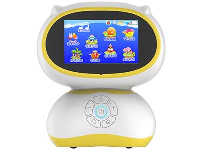 巴巴腾 智能机器人教材点读学习机语音对话陪伴儿童早教故事机器人视频唱歌玩具 A18