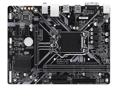 技嘉H310M S2  主芯片组:Intel H310 音频芯片:集成Realtek ALC887 8声道音效芯片 内存类型:2×DDR4 DIMM 最大内存容量:32GB 主板板型:Micro ATX板型 外形尺寸:24.4×18.5cm 电源插口:一个4针,一个24针电源接口 供电模式:3+1相