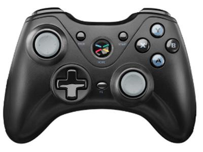 极米无线游戏手柄 360°游戏摇杆/微触动灵敏肩键/人体工学设计/智能电量管理。