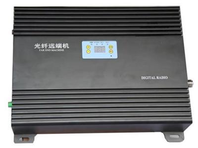 5-8W远端机  采用先进的声表面滤波技术,带外抑制 收发隔离度高。  整铝腔体分隔屏蔽设计,抗干扰能力强, 杂散小。  采用进口低噪声器件,整机 NF 系数小, 接收微小信号能力强。  加入 ALC 技术,抗过载能力强。  先进的温控静音散热技术,机器运行后 无噪声污染。  更先进的数控增益调整,调整步进为 0.5dB  具备极端温度自降功率设计,保护射频功放运行安全 