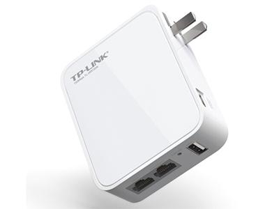 TP-LINK TL-WR720N SOHO宽带路由器 内置电源,插墙式,插头可收,迷你型3G无线150M路由器,提供1个LAN/WAN口和1个LAN口,USB口