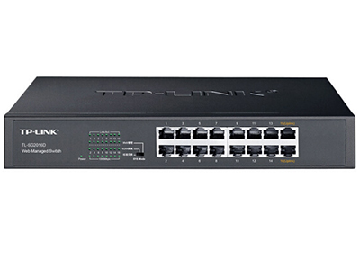 TP-LINK  TL-SG2024D  Web网管交换机 24个千兆口;支持QoS、带宽控制、风暴抑制;支持端口汇聚、端口镜像、端口监控;支持Web网管,可上机架