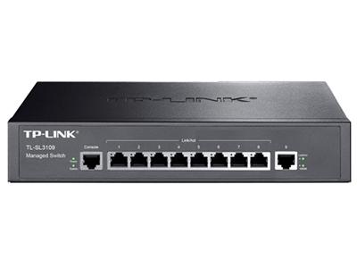 TP-LINK  TL-SL3109  千兆上联二层网管 8百兆口+1个千兆口,二层网管交换机