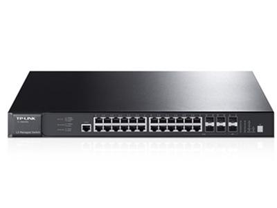 TP-LINK  TL-SG6428Q  三层万兆 24个千兆口+4个复用千兆SFP光纤模块扩展插槽+2个独立万兆SFP+光纤模块扩展插槽+1个接口模块扩展卡插槽(可扩展2个万兆SFP+光纤模块扩展插槽),三层网管