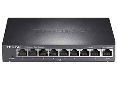 TP-LINK  TL-SF1009P  POE供电交换机 8个百兆PoE口+1百兆口/单口功率15.4W/整机57W
