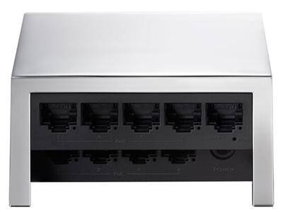 TP-LINK  TL-SF1009PQ  POE供电交换机 8个百兆PoE口+1百兆口/单口功率15.4W/整机57W,银方造型,镜面铝合金壳体,精致时尚