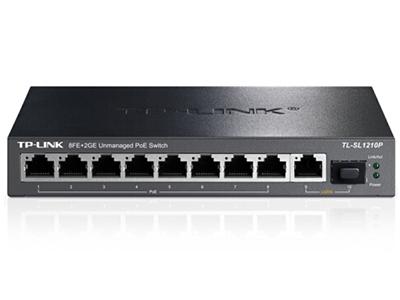 TP-LINK  TL-SL1210P   POE供电交换机 8个百兆PoE口+1千兆+1SFP/单口功率30W/整机56W