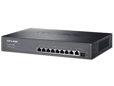 TP-LINK  TL-SL1210PE  POE供电交换机 8个百兆PoE口+1千兆+1SFP/单口功率30W/整机121W,支持大功率AP/IPC