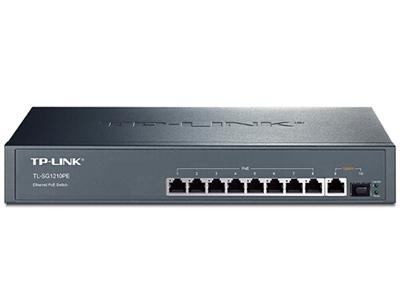 TP-LINK  TL-SG1210PE  POE供电交换机 8个千兆PoE口+1千兆+1SFP/单口功率30W/整机121W,支持大功率AP/IPC