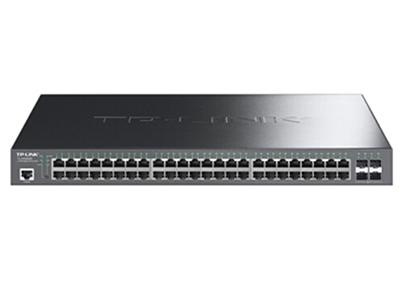 TP-LINK  TL-SG5452P  POE供电交换机 48个千兆PoE口+4独立SFP/单口功率30W/整机396W/三层网管功能