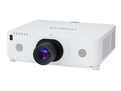 日立 HCP-D887X 投影机8000流明 1280*800分辨率 10000:1对比度 一路DP接口、2.0倍电动变焦镜头、镜头位置记忆功能、支持HML、产品内置八点图像校正和变形