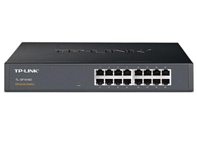 TP-LINK  TL-SF1016D  非网管交换机 钢壳 百兆 桌面式 可上机架