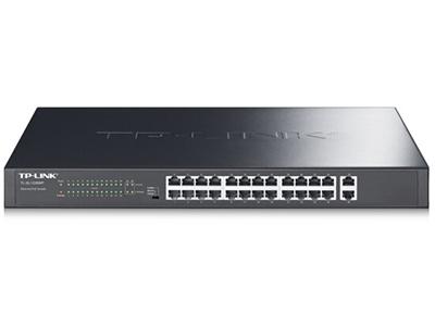 TP-LINK  TL-SL1226  非网管交换机 24口百兆 + 2口千兆 标准机架