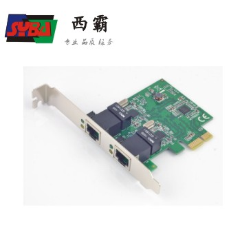 西霸 PCI-E  2口千兆网卡