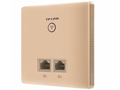 TP-LINK  TL-AP302I-POE薄款香槟金(方)   面板AP 带机量20,标准POE,2 RJ45网口,可VLAN,香槟金外观