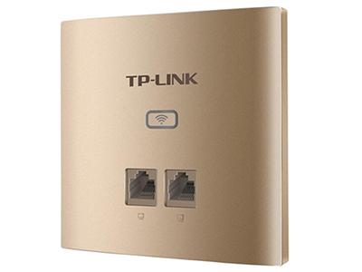 TP-LINK  TL-AP456GI-POE薄款香槟金(方)   面板AP 带机量30,标准POE,2 RJ45网口,可VLAN,薄款
