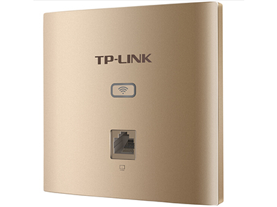 TP-LINK  TL-AP1202GI-POE薄款香槟金(方)   面板AP 带机量50,标准POE,双频,1 RJ45网口,可VLAN, 端口全千兆,香槟金