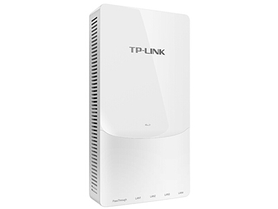 TP-LINK  TL-AP1208GI-POE   面板AP 带机量50,标准POE,双频,4 RJ45网口+1 RJ45穿透口(电话/IPTV),可VLAN,端口全千兆,路由模式