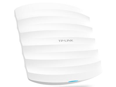 TP-LINK  TL-AP1202C-POE  吸顶式AP 带机量55,标准POE,双频,半径15m或6个标间,海浪型,大功率,百兆端口